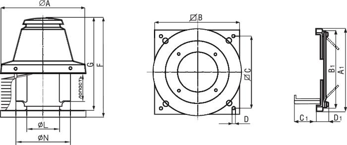 вентилятор канальный высокотемпературный