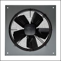 осевой промышленный вентилятор квадратный