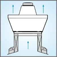 крышный вентилятор на коньковом продухе