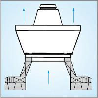 крышный вентилятор на наклонной крыше