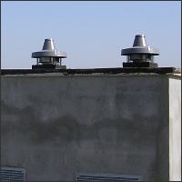 фото крыши с вентиляторами