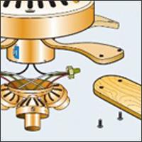 потолочный вентилятор разборка