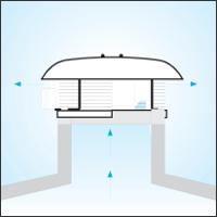 установка крышных вентиляторов на стаканы