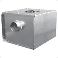 промышленный вентилятор в коробе
